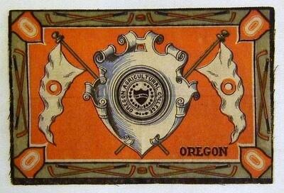 Scarce 1910's Hockey Tobacco Felt for Oregon College