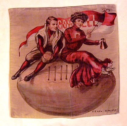 1907 University of Cornell Football Pillow Cover by F. Earl Christy