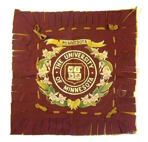 1910's Minnesota University Felt Pillow Cover