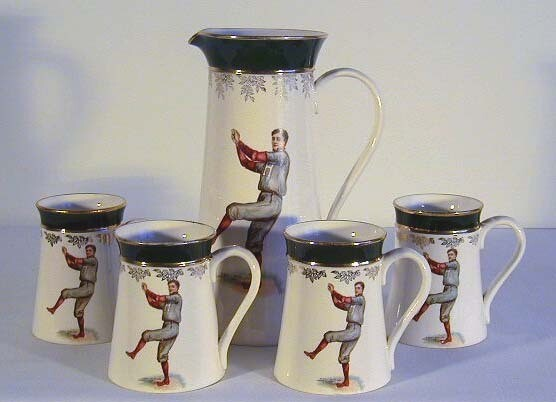 1905-10 Harvard Baseball Water Pitcher Complete Set by F. Earl Christy