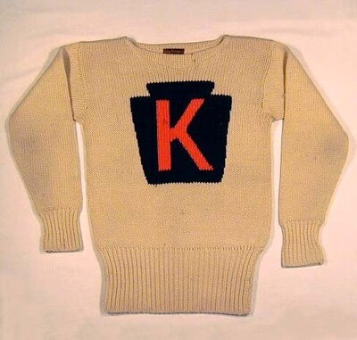 1910's Kutztown College Letter Sweater made by Horace and Partridge