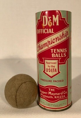 1920's D&M Tennis Ball Can