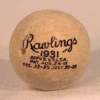 Factory Dated 1931 Rawlings Seamless Tennis Ball - Very Rare