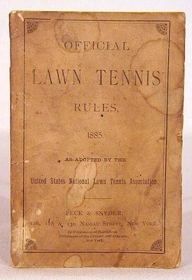 1885 Peck & Snyder Official Lawn Tennis Rules