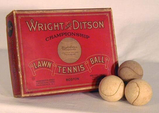 1914-1926 Wright & Ditson Lawn Tennis Case Box with Balls