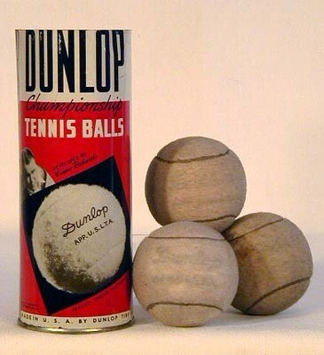 1920's Vinnie Richards Tear-Top Tennis Ball Can - Dunlop