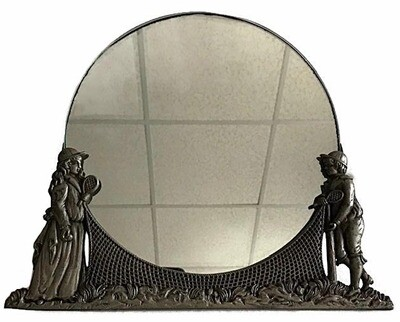 Turn of the Century Tennis Scene Mirror Frame