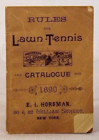 1890's Horsman Lawn Tennis Rules