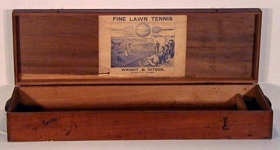 1870 - 1880's Wright & Ditson Lawn Tennis Box