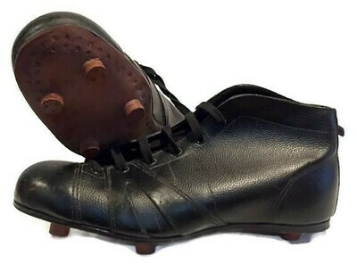 1910-20's Vintage Soccer Shoes with stacked leather cleats