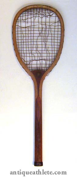 """Early 1900's Victor """"The Club"""" Tennis Racket"""