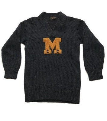 1920's Michigan University Letter Sweater for Cross Country