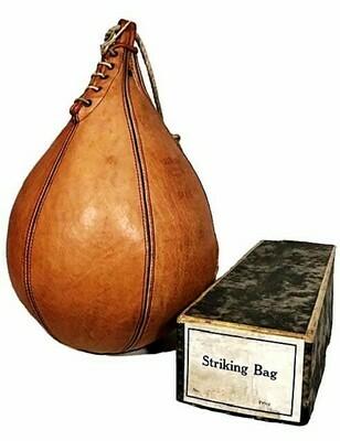 1930's Boxer's Striking Bag in the Original Box