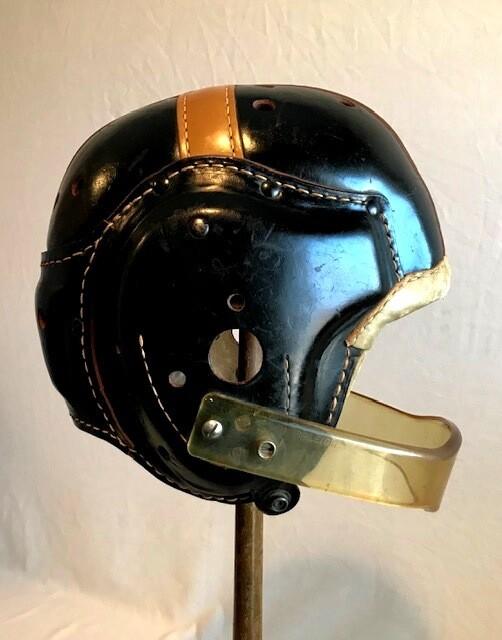 1940's Spalding Leather Football Helmet
