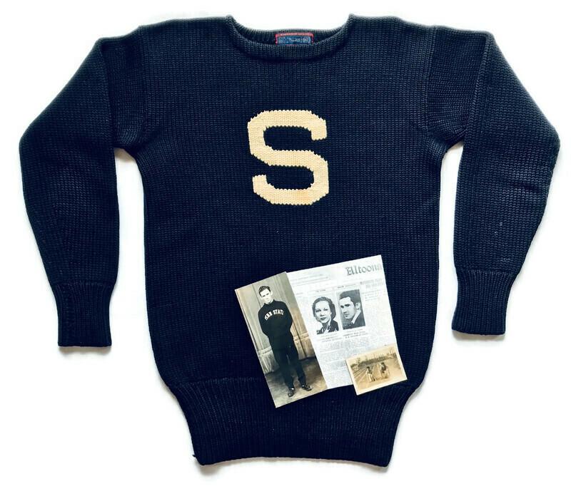 1936 Penn State University Letter Sweater - Spalding