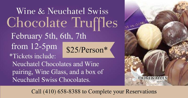 Feb.5th*Truffles Wine Pairing*4pm