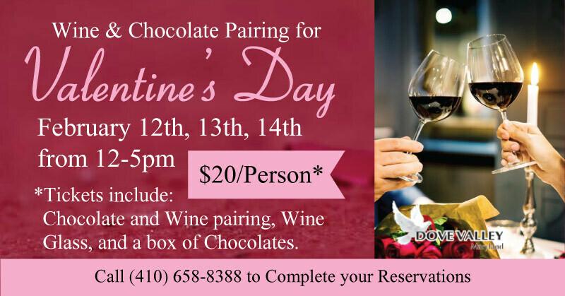 Feb.14thNE Choc. Wine Pairing*4pm