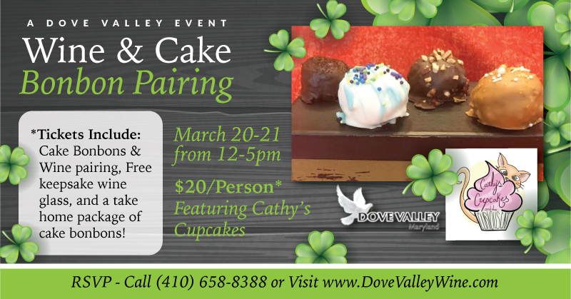 Cake Bonbon Wine Pairing*March.21st*4pm