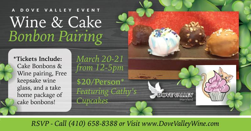 Cake Bonbon Wine Pairing*March.20th*2pm