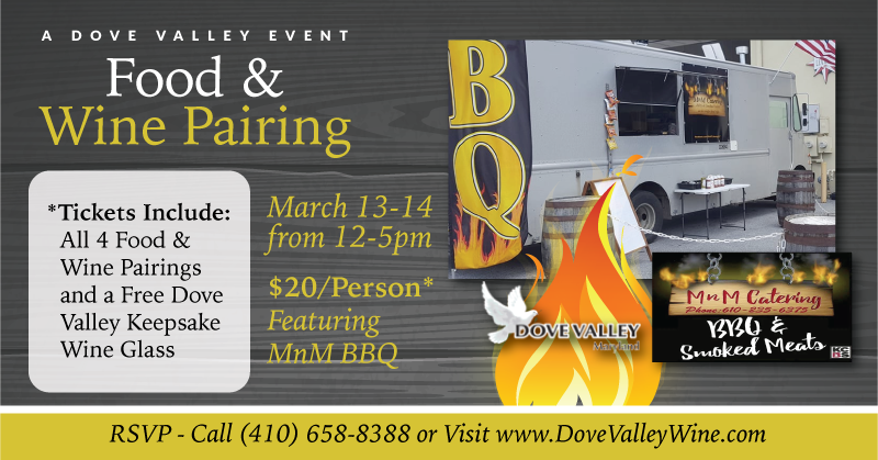 MnM BBQ Food & Wine Pairing*March 13th*12pm