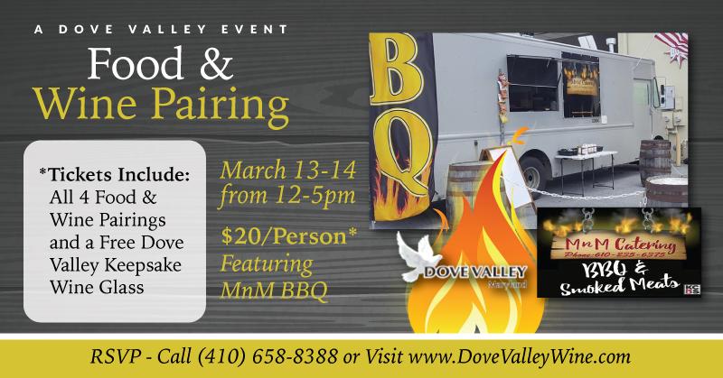 MnM BBQ Food & Wine Pairing*March 13th*3pm