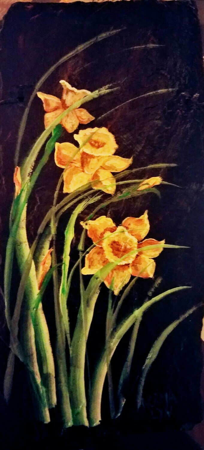 Painted Slate*Daffodils Workshop *March 28th*12pm