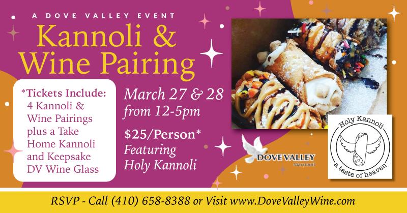 Kannoli & Wine Pairing*March 27th*4pm