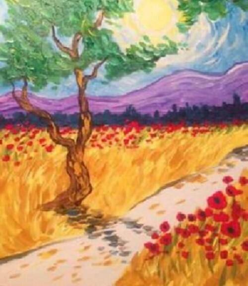 Van Gogh inspired Landscape Painting onCanvas