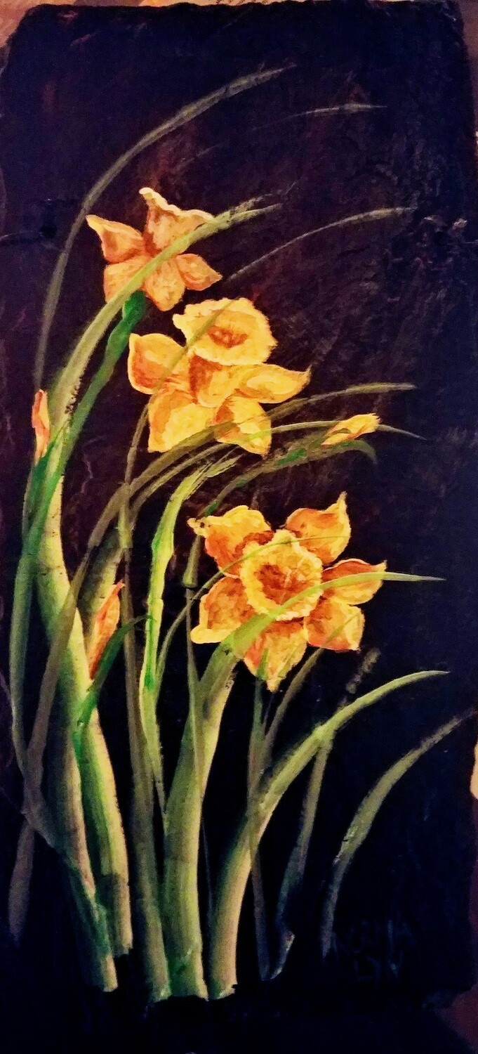 Painted Slate*Daffodils Workshop *May23rd*12pm