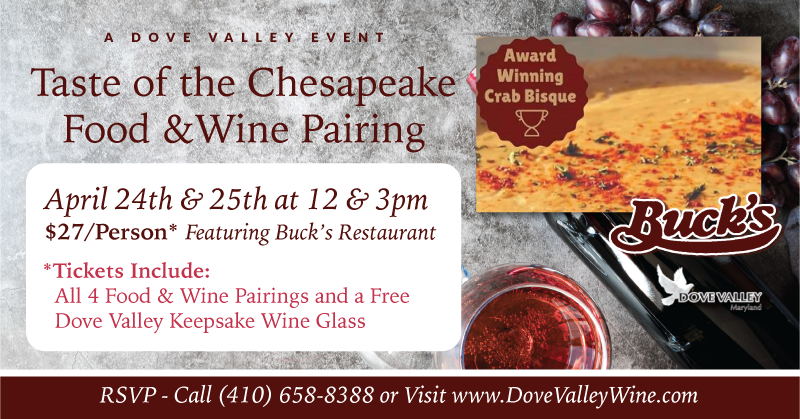 Chesapeake Food & Wine Pairing *April 25th*12pm