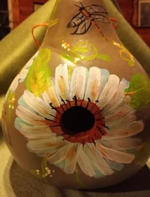 Birdhouse Gourd *Daisy/Dragonflies*July 4th*12pm