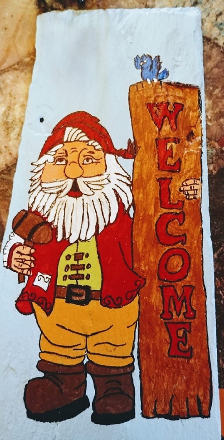 Painted Slate*Welcome Gnome*July 17th*12pm