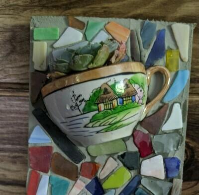 Mosaic Tea Cup Planter *Aug.15th*12pm