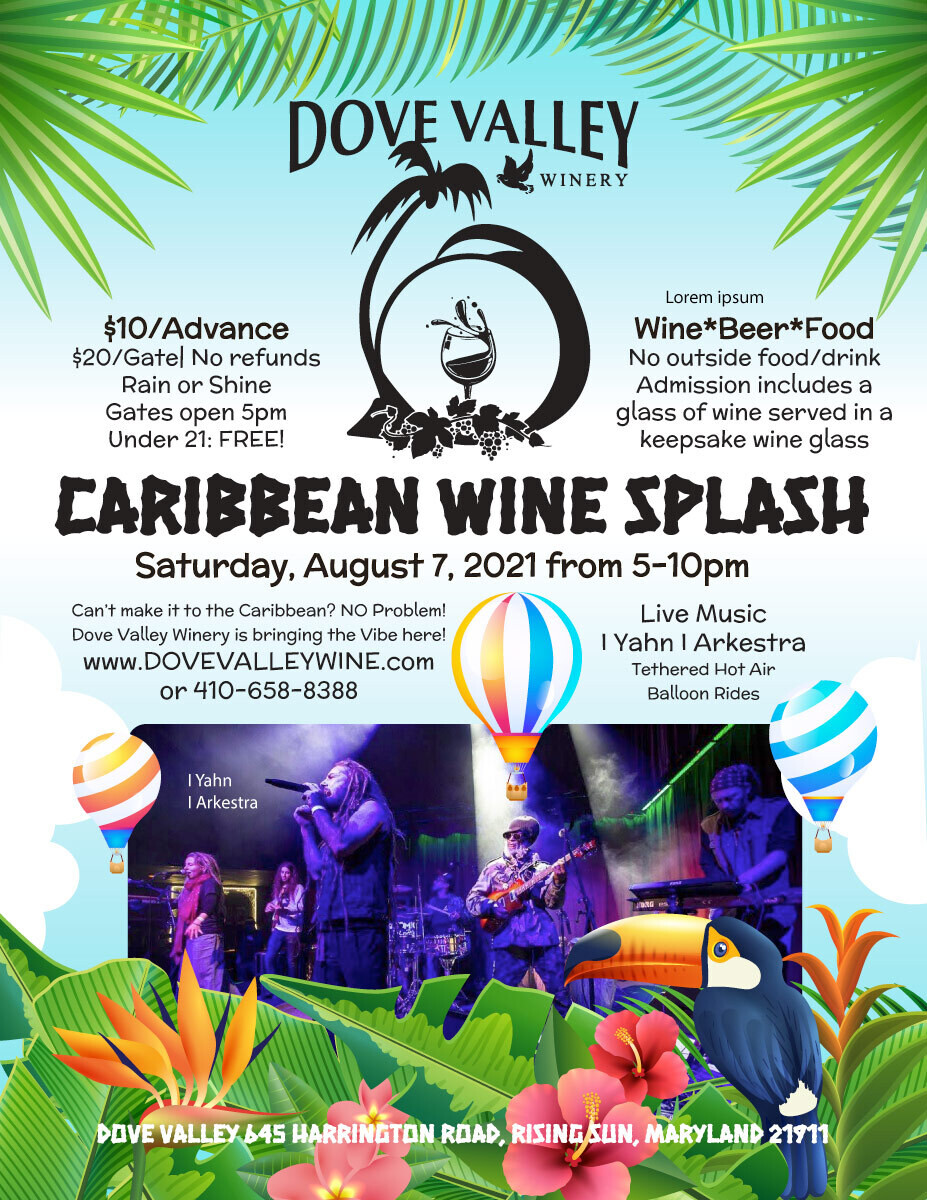 Caribbean Wine Splash*Aug.7th*5pm