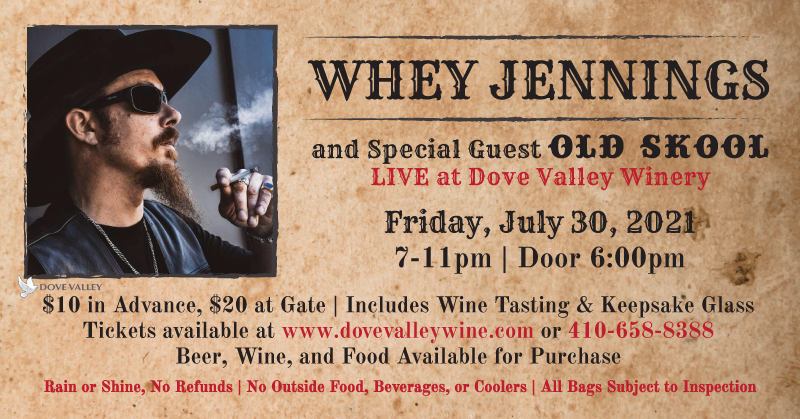 Whey Jennings Concert*July 30th*6pm