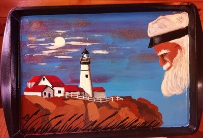 Painted Tray*The Old Man of the Sea *Sept.4th*1pm