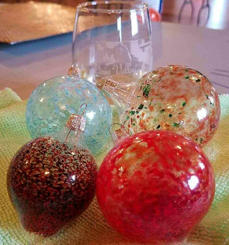 Nov.28th*Blown Glass Ornaments Workshop*3pm