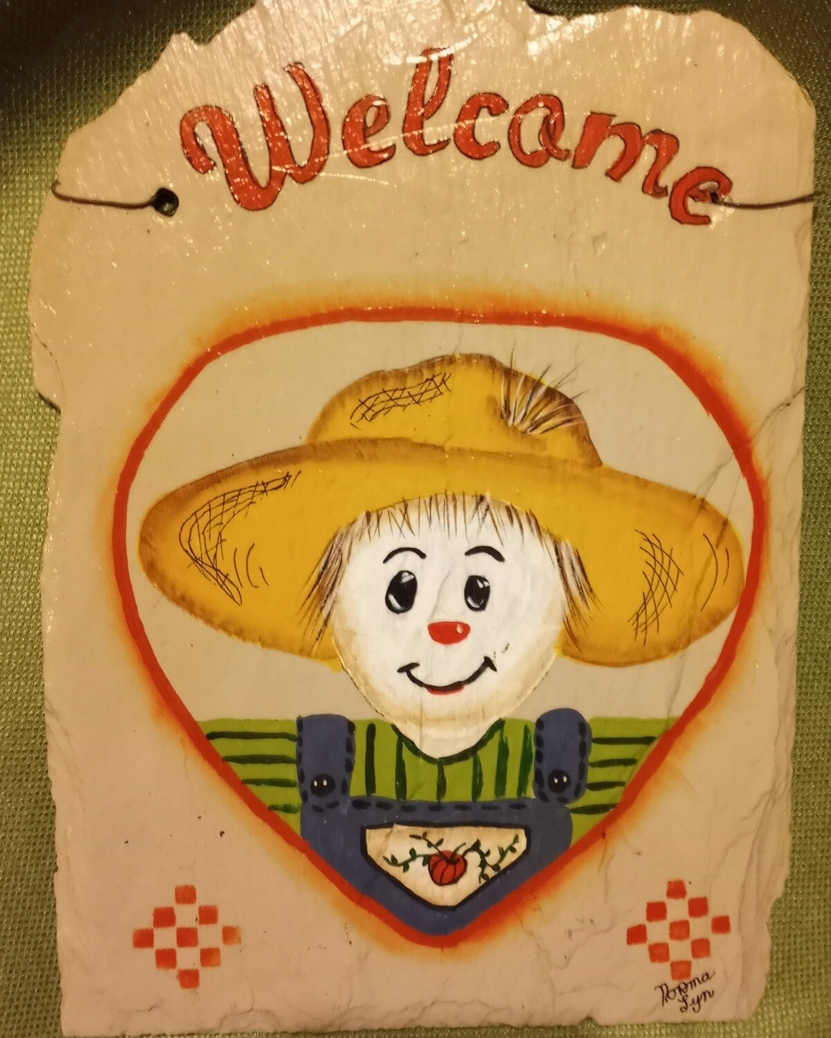 Painted Slate*Scarecrow*Sept.26th*12pm