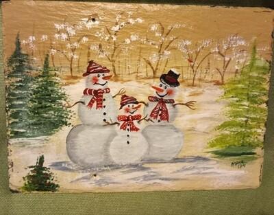 Painted Slate *Snowmen*Nov.13th*1pm