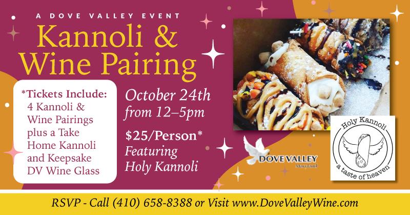 Kannoli & Wine Pairing Oct.24th *12pm
