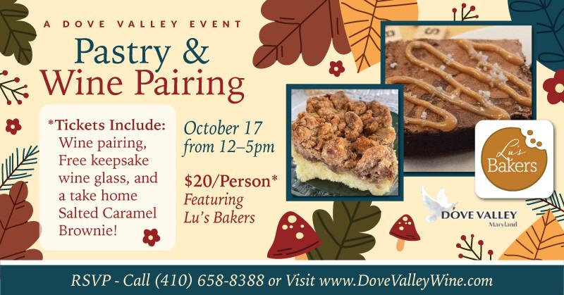 Pastry &Wine Pairing*Oct.17th*3pm