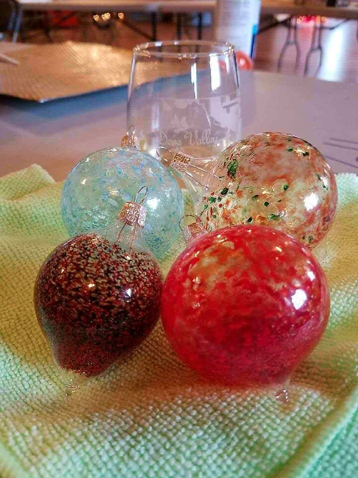 Dec.5th*Glass Blown Ornaments*3pm