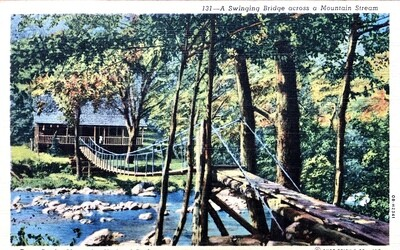 Great Smoky Mountains National Park Swinging Bridge Postcard