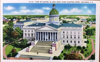 Columbia SC View of Capitol Vintage Postcard