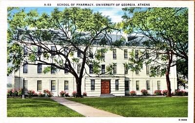 School of Pharmacy University of Georgia Athens GA Postcard
