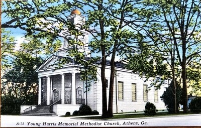 Young Harris Memorial Methodist Church Athens Georgia Postcard