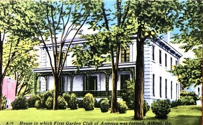 Athens GA House Where First Garden Club of American Was Formed