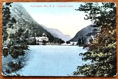 Adirondack Mts NP Cascade Lakes 1911 Hugh C. Leighton Co.