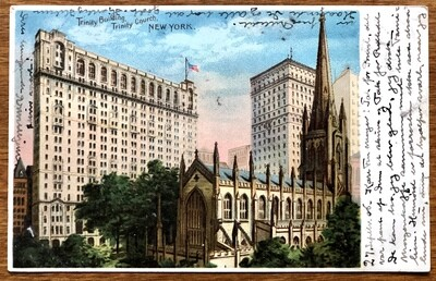 Trinity Building Trinity Church New York 1906 Postcard