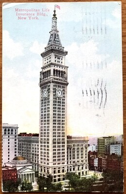 Metropolitan Life Insurance Bldg New York 1910 Postcard